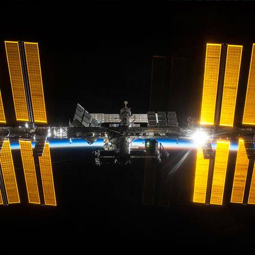 The solar panels of ISS.